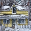 Snow Victorian House